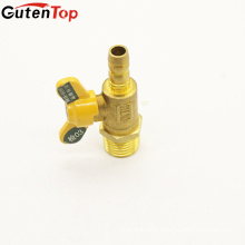 GutenTop High Quality male thread and PEX butterfly handle of brass gas ball valve